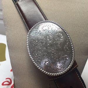 Nocona belt Co leather belt